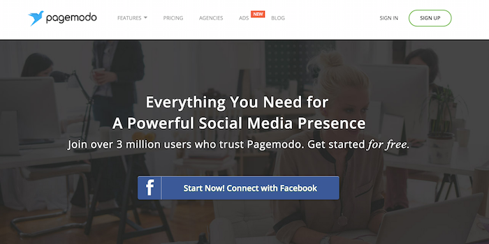 Pagemodo - 100 social media tools