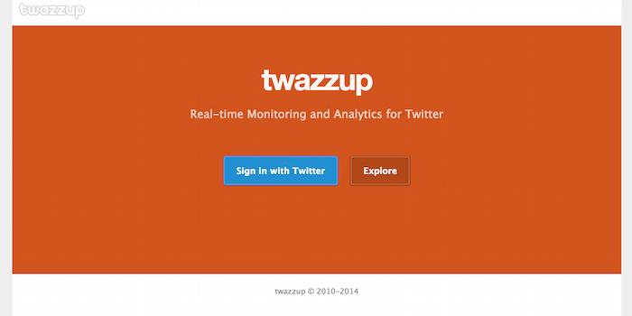 Twazzup - 100 social media tools