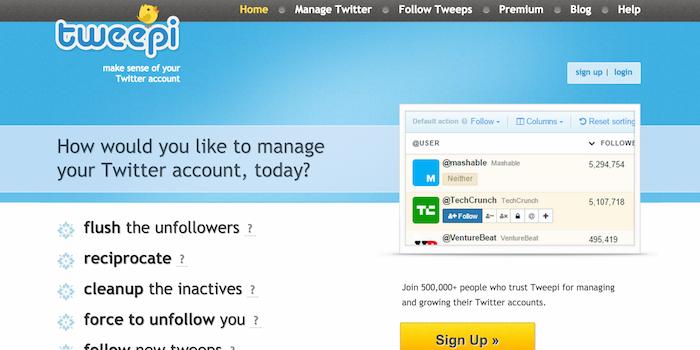Tweepi - 100 social media tools