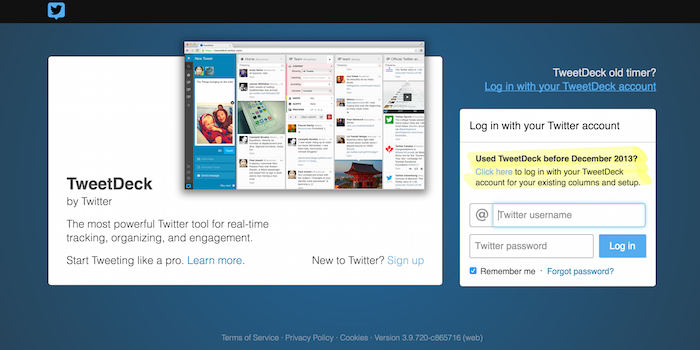 Tweetdeck - 100 social media tools