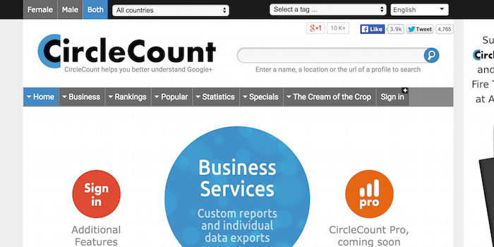 Circlecount - 100 social media tools