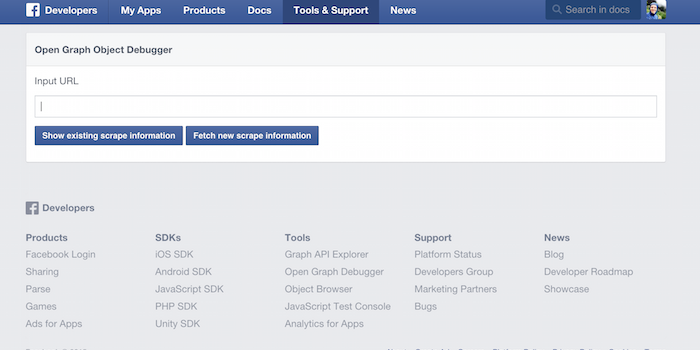 Facebook Debugger - 100 social media tools