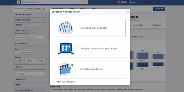 facebook audience insights - 100 social media tools