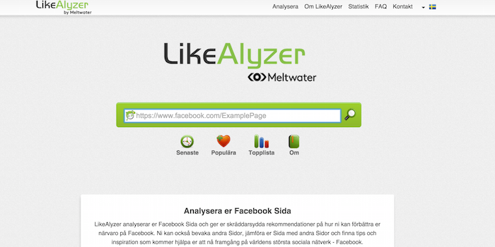 Likealyzer - 100 social media tools