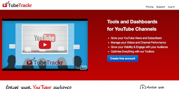 Tubetrackr - 100 social media tools